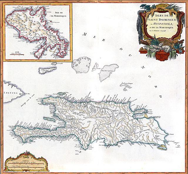 Mapa de cuando era colonia española y francesa