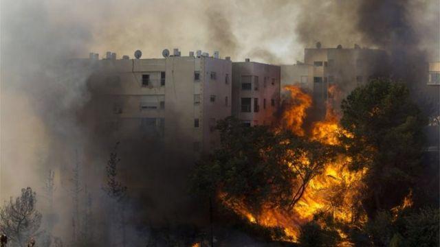 حريق في حيفا