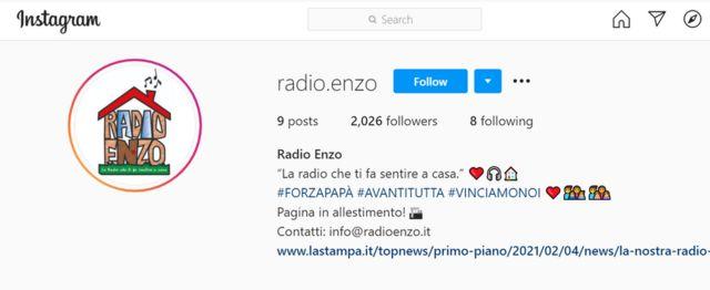 Página de Instagram de Radio Renzo