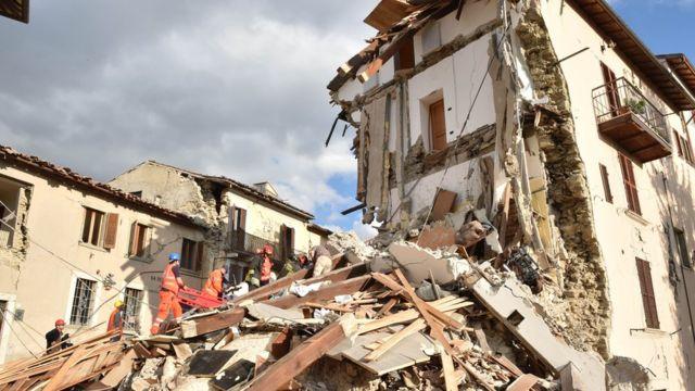 Terremoto en Arquata del Tronto, en Italia, en 2016