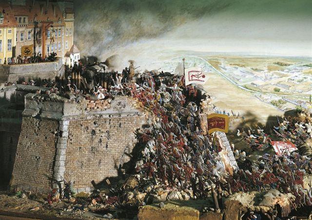 لوحة تصور حصار القوات التركية لمدينة فيينا