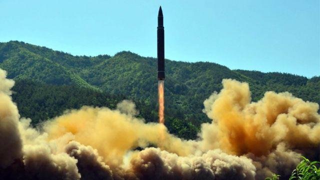 Lanzamiento de un misil de Corea del Norte.