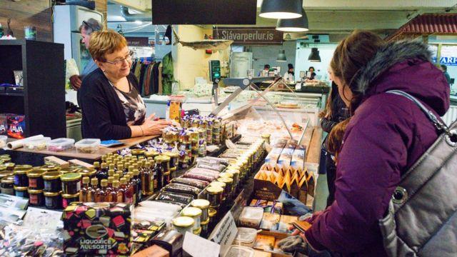 Mercado en Islandia