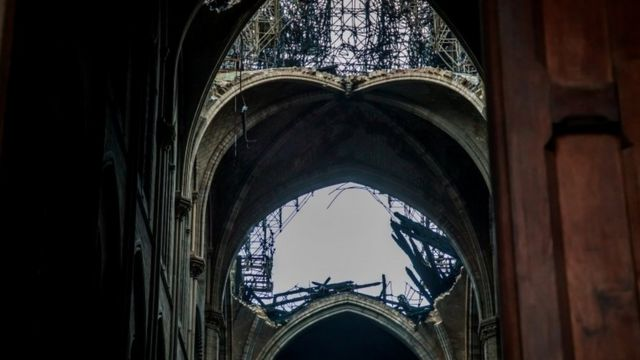 The Notre-Dame roof after the blaze
