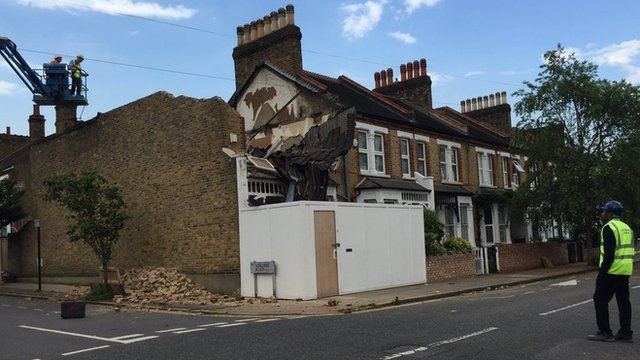 House collapse in Lewisham