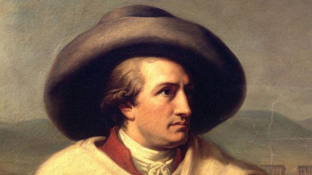 El poeta alemán J.W. Goethe
