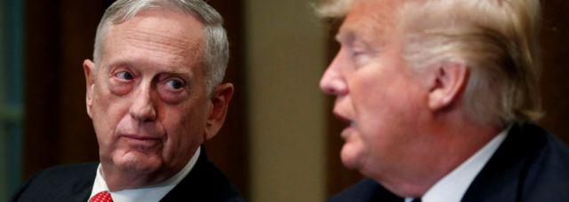 အမေရိကန်၊ ကာကွယ်ရေး ဝန်ကြီး၊ သမ္မတထရမ့်၊ ဂျိမ်းမက်တစ်