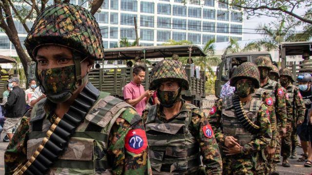 soldiers in Myanmar