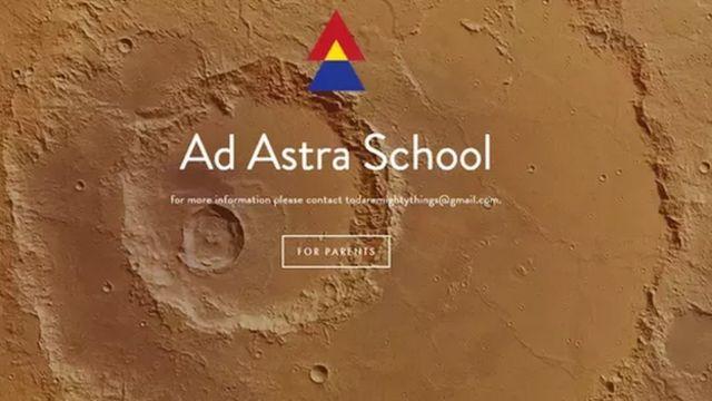 Anuncio de la escuela Ad Astra en internet