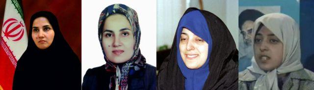 از راست معصومه ابتکار قبل و بعد از معاونت و لعیا جنیدی قبل و بعد از معاونت رئیسجمهور