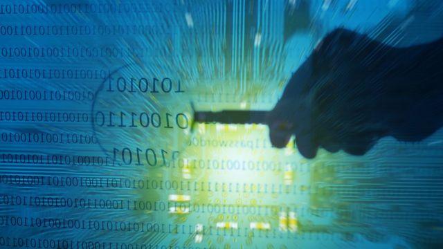 Cyber crime illustration