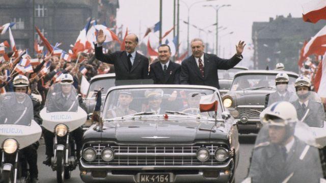 Edward Gierek đón Valéry Giscard d'Estaing tại Warsaw
