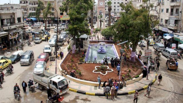 مدينة إدلب خلال شهر رمضان العام الماضي