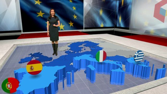 Katya Adler with map of Europe