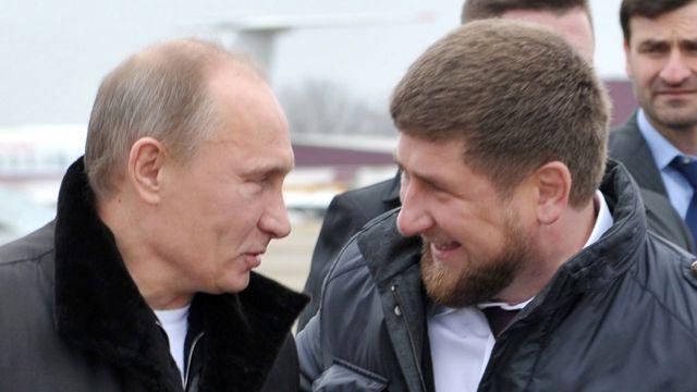 Čečenski lider Ramzan Kadirov i ruski predsednik Vladimira Putin