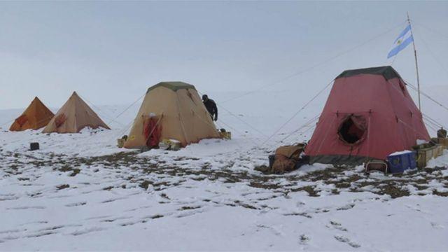 Campamento en Antártica. Foto: gentileza Instituto Antártico Argentino.