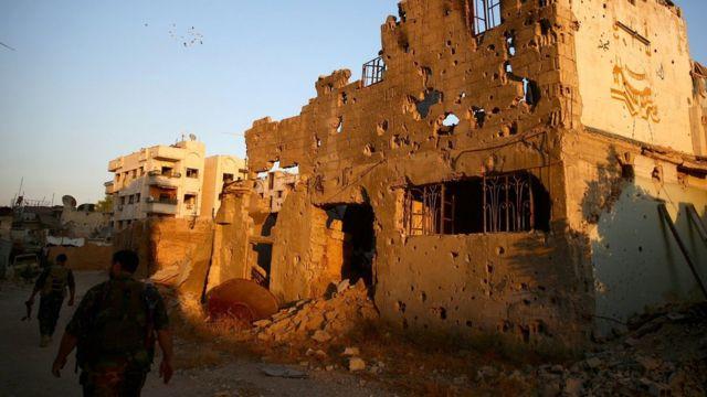 развалины в Дамаске