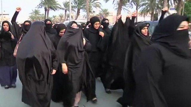 Women in Bahrain marching over death of Sheikh Nimr al-Nimr