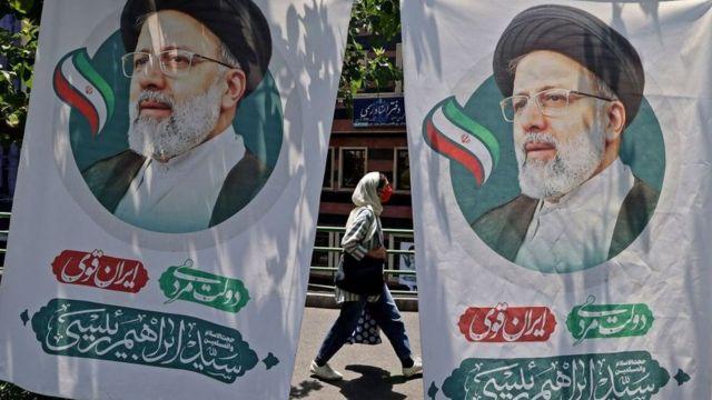постер иранского кандидата эбрахима раиси