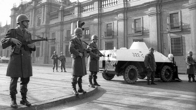 Military during the 1973 coup.