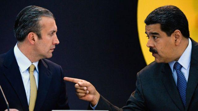 Tarek El Aissami y Nicolás Maduro.