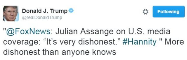 特朗普推特發言
