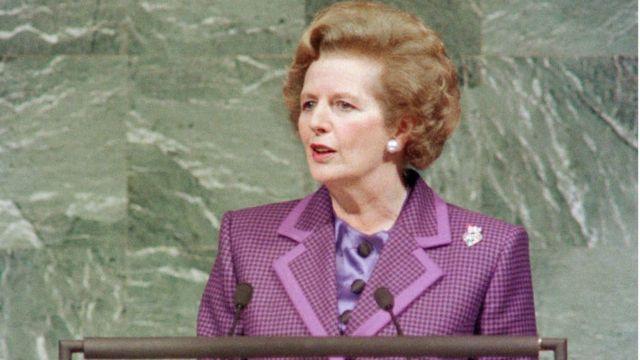 Thatcher discursa na ONU em 1989