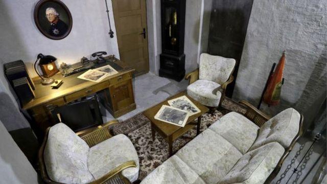 د هتلر پټنځي کې د هغه دفتر
