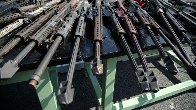 Armas confiscadas