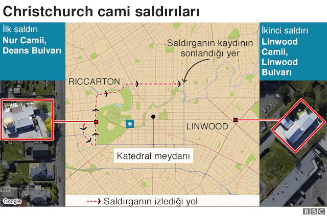 Saldırıların haritası