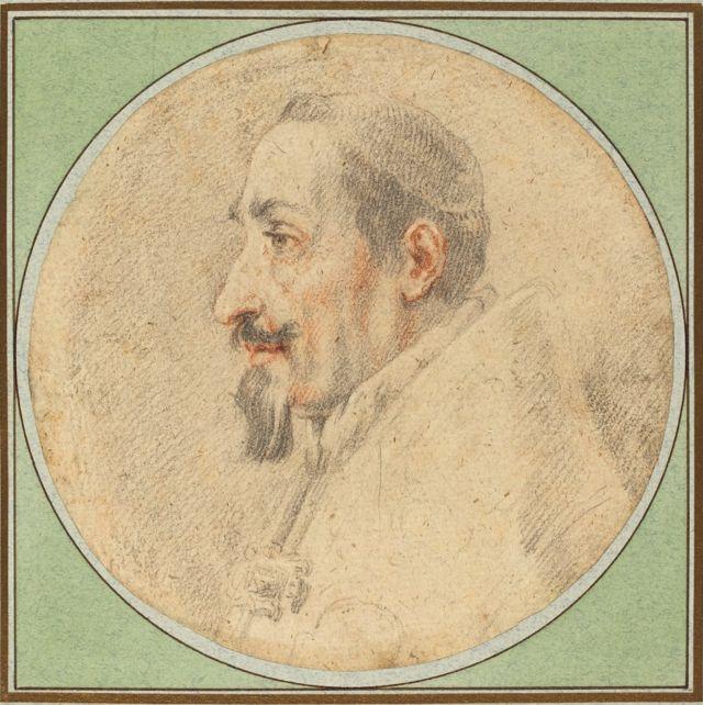 Ilustração papa Alexandre 7o, feita por Andrea Sacchi