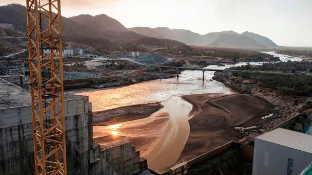 Obras de la Represa del Gran Renacimiento en el Nilo Azul