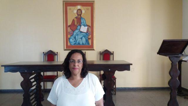 A professora Angélica Peixoto