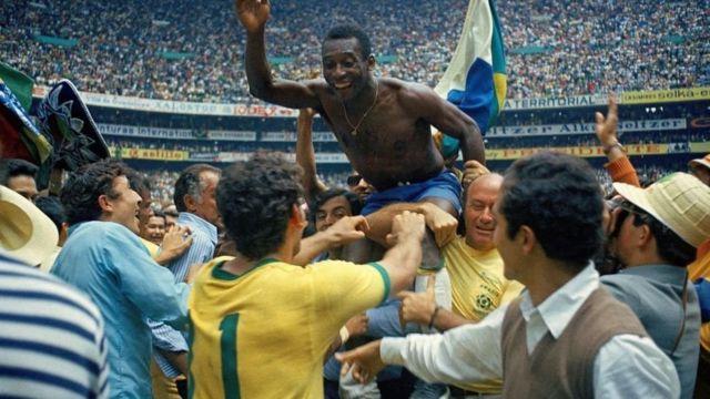 после матча Бразилия-Италия на кубке ФИФА 1970 года