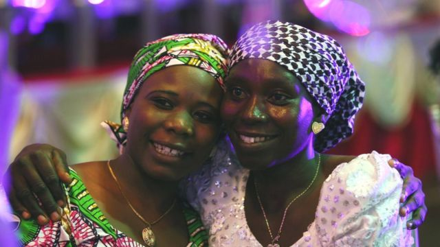 A mother hugs her daughter in the Nigerian capital Abuja