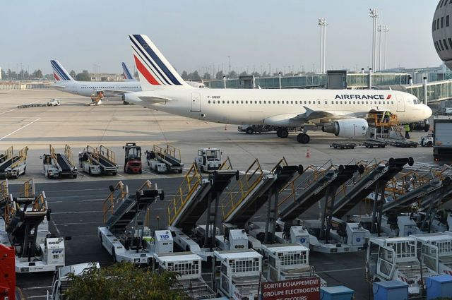 Air France plane sitting on the tarmac