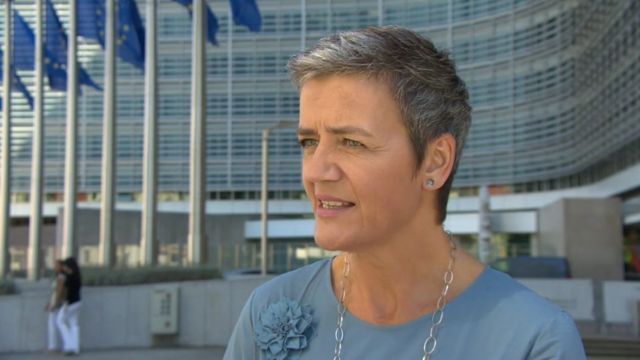 Margrethe Vestager, the European Commissioner for Competition