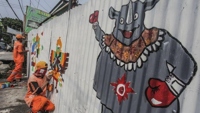 Asian Games, mural