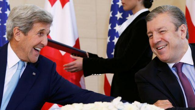 Джон Керри и Георгий Квирикашвили
