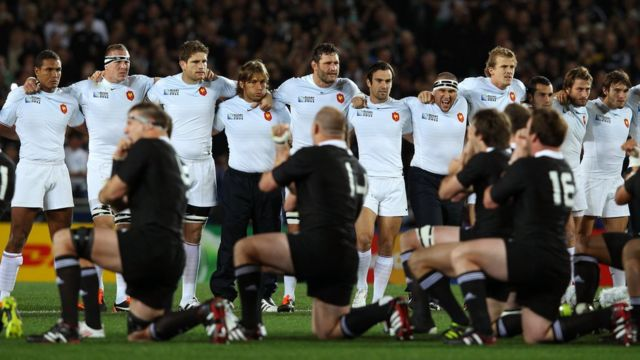 France team confront All Black Haka