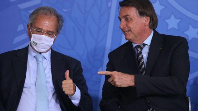 Ministro Paulo Guedes e presidente Jair Bolsonaro