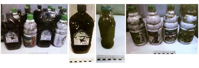 Botellas con sangre de grado