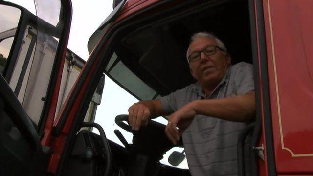 Lorry driver Paul Stevens