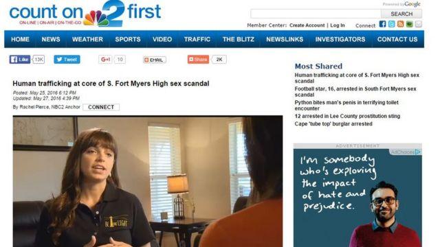 Entrevista da ativista Megan Estrem à rede NBC