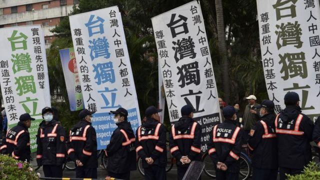2017年2月,支持台湾独立的民众发起纪念228事件70周年游行