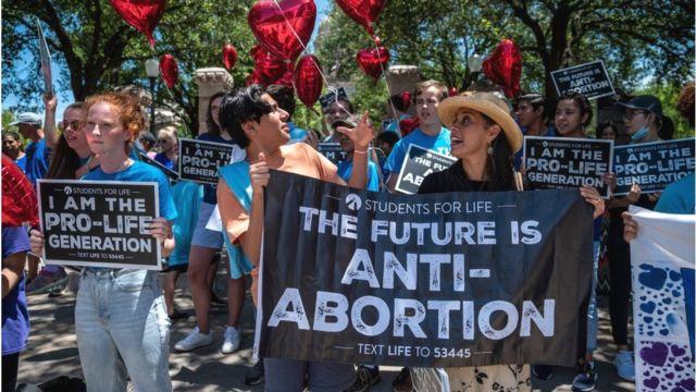 Демонстрация защитников права на жизнь в Техасе