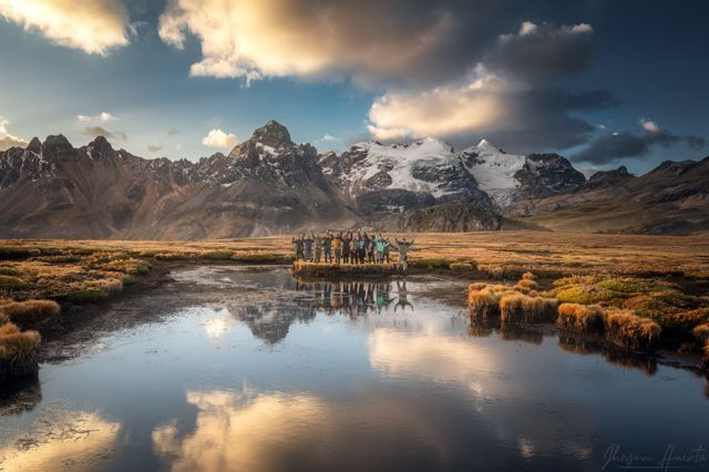 Nevado Huarapasca, no Parque Nacional Huascarán, no Peru