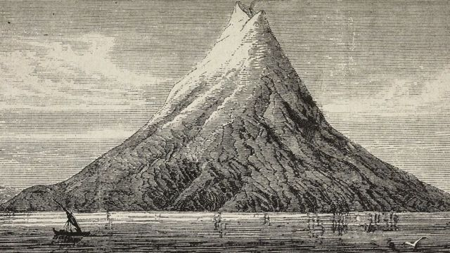 सन् १८८३ मा विस्फोटन हुनुअघि काकाटाओ ज्वालामुखी