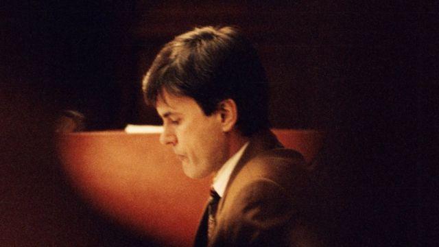 John Ausonius durante su juicio en Suecia a inicios de la década de 1990.