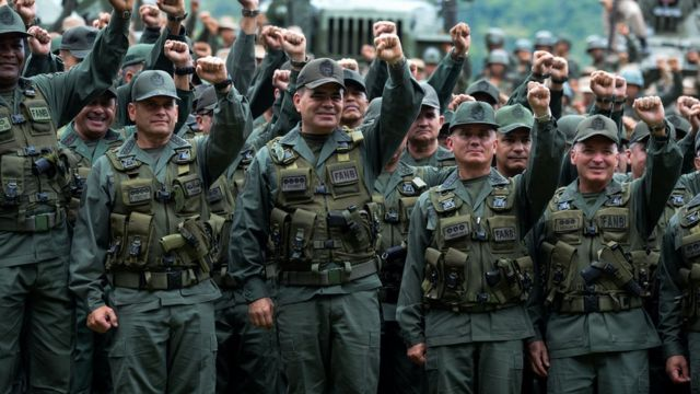 Altos comandantes do Exército venezuelano